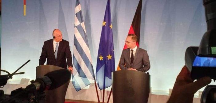 Θα στηρίξει την ευρωπαϊκή προοπτική της Βόρειας Μακεδονίας δήλωσε ο Ν. Δένδιας στον Γερμανό ομόλογό του