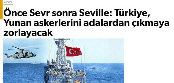 Πόλεμος προπαγάνδας από τη Γενί Σαφάκ: «Η Ελλάδα δέχτηκε τις γερμανικές παραινέσεις για αποστρατικοποίηση των νησιών»