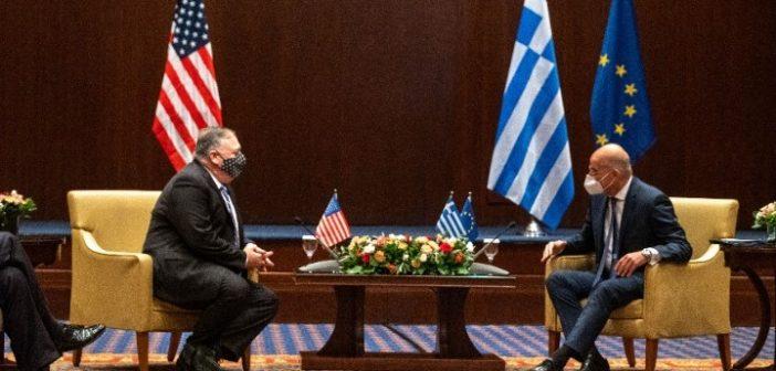 Πομπέο: Με την Ελλάδα μοιραζόμαστε κοινό στρατηγικό όραμα – Συνάντηση με τον Ν. Δένδια
