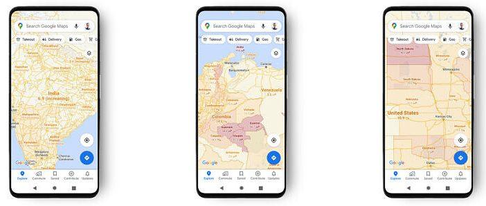 Νέα εφαρμογή από την Google Maps- Δείτε τα κρούσματα Covid ανά περιοχή