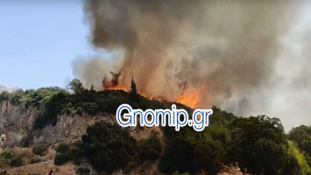 Πάτρα: Μάχη με τις φλόγες  στην Ελεκίστρα – Καίγονται σπίτια