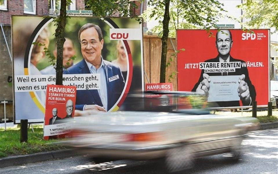Θρίλερ στη Γερμανία: Στις τρεις μονάδες περιορίζεται η διαφορά SPD και CDU/CSU