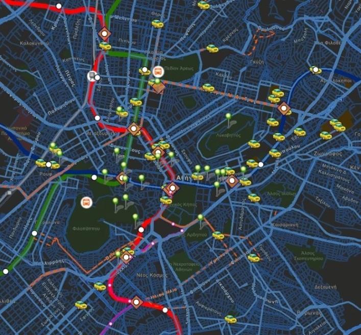 """ΟΑΣΑ: Μετρό, λεωφορεία, ταξί και αξιοθέατα με ένα """"κλικ"""" – Ο νέος διαδραστικός χάρτης της Αθήνας"""