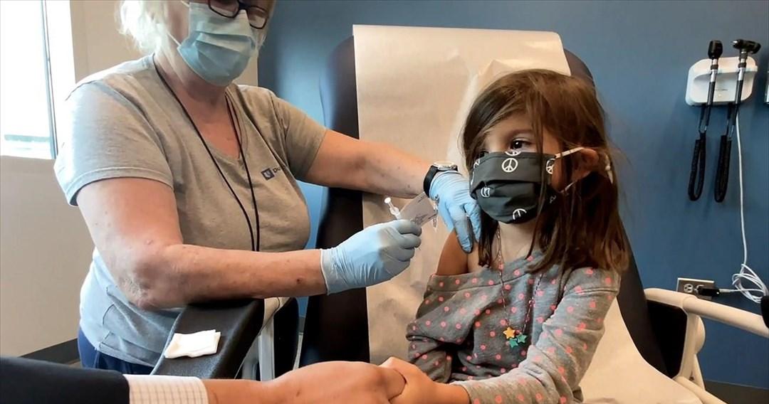 Αποτελεσματικότητα 91% εμφάνισε το εμβόλιο της Pfizer στα παιδιά 5-11 ετών