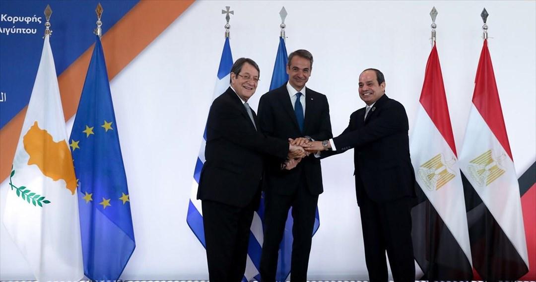 Η κοινή διακήρυξη Ελλάδας-Αιγύπτου-Κύπρου